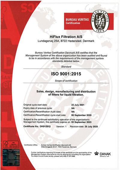 ISO 9001 certifikat DANAK DK